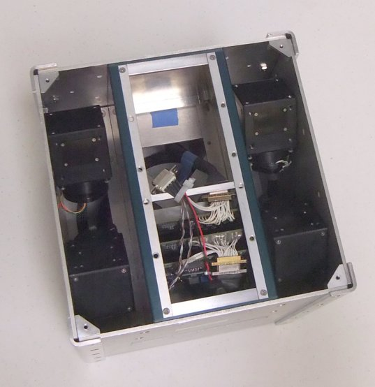 Microsatellite with four control moment gyroscopes (interior view)