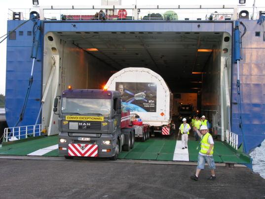 ATV Edoardo Amaldi arrives in Kourou
