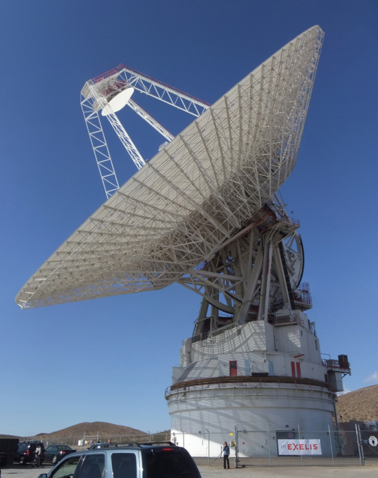 The 70-meter DSS-14 antenna at Goldstone