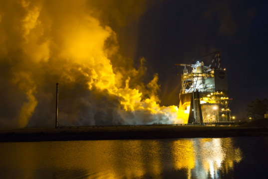 Inaugural SLS RS-25 engine test