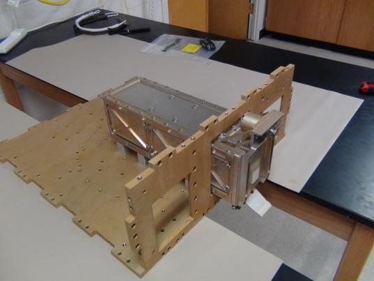 LightSail 2 P-POD simulator in Prox-1 structure