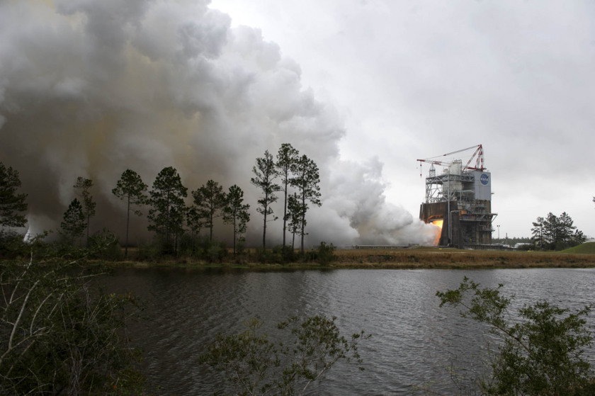 First SLS flight engine test