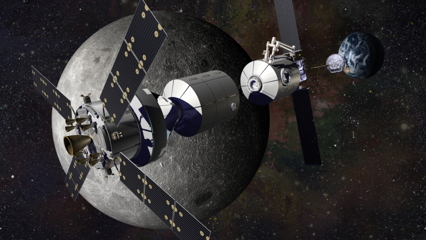Lockheed Martin concept for a modular cis-lunar base