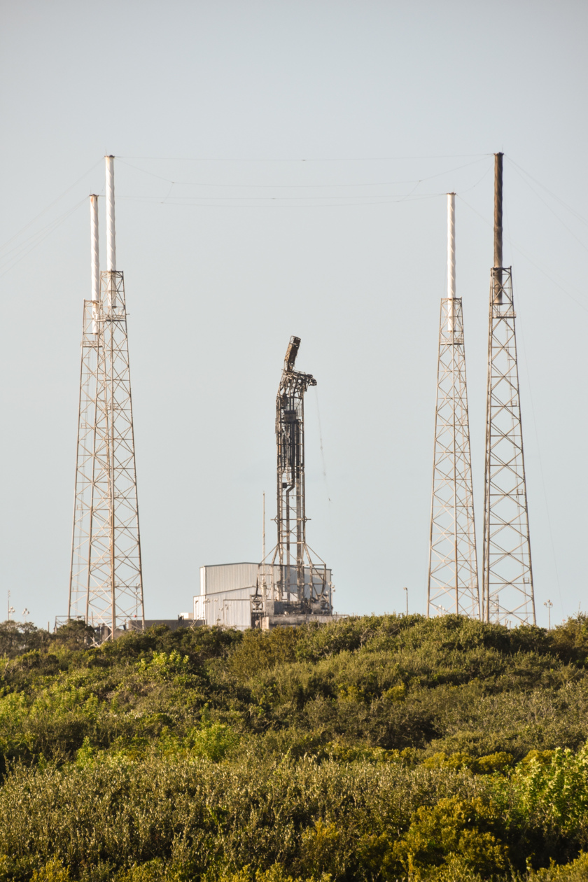 SpaceX damaged pad SLC-40