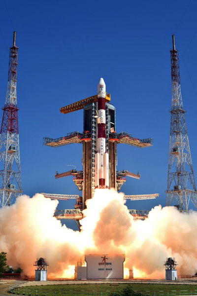 PSLV-XL lifting off from the Satish Dhawan Space Center