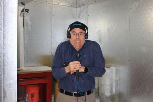 Mat Kaplan in the Honeybee Robotics deep freeze