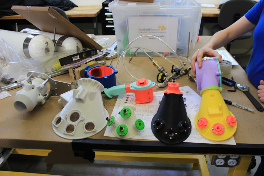 3D-printed PlanetVac prototypes