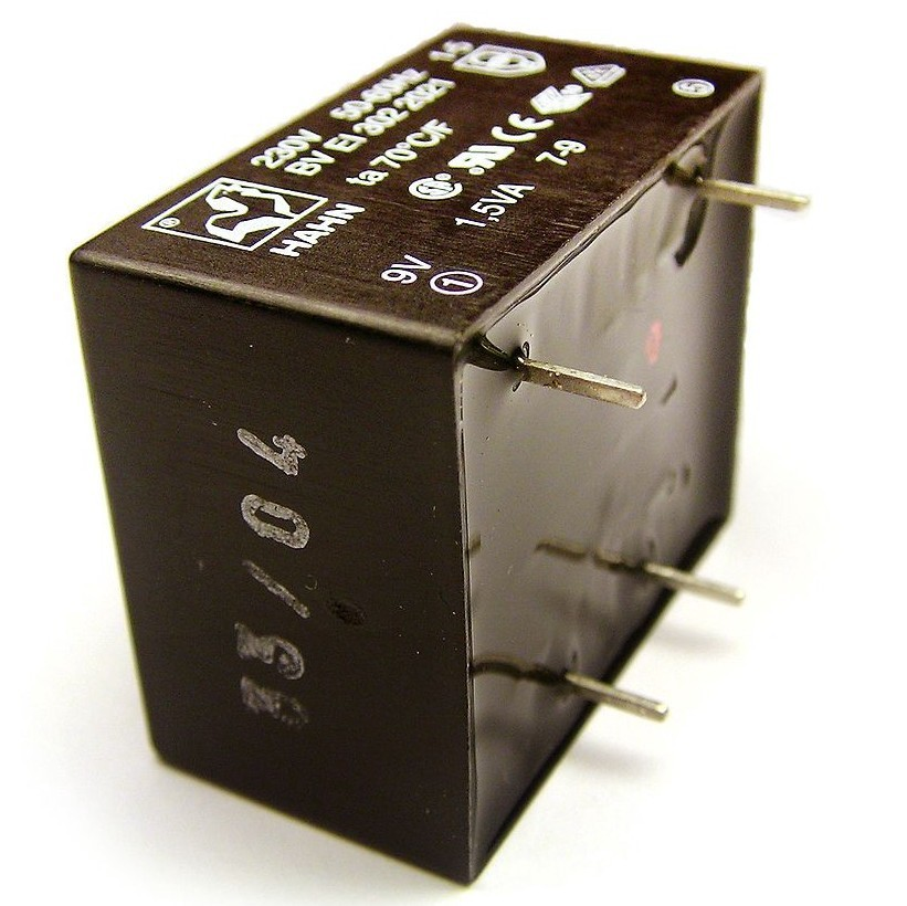 Potted electrical transformer