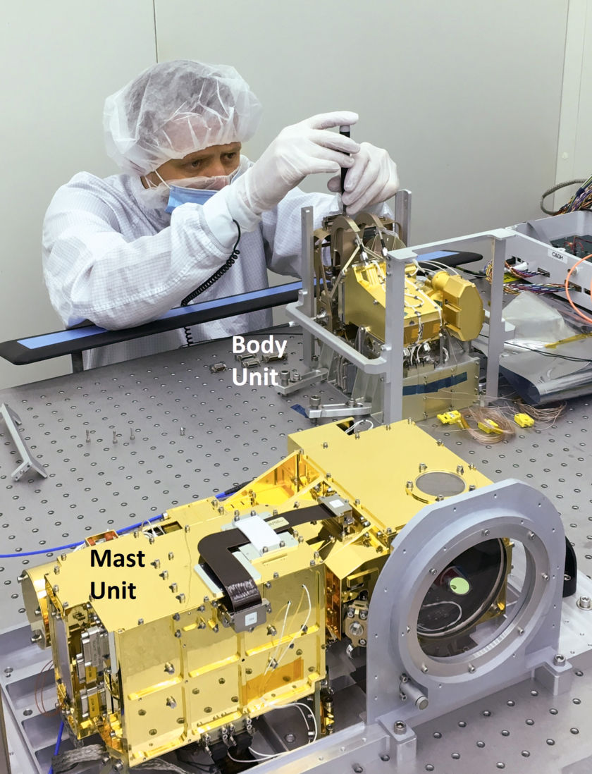 Integration of SuperCam's Mast and Body Units