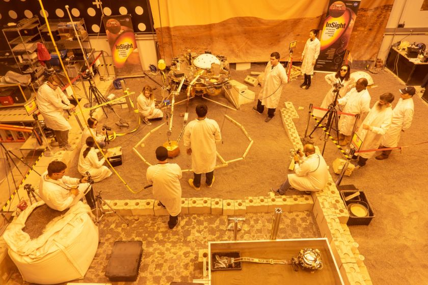 Practicing the deployment of InSight's instruments
