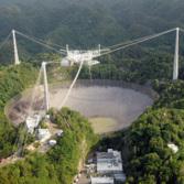 The 1000-ft Arecibo radio telescope