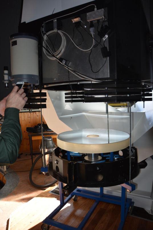 0.84-meter telescope mirror at G. V. Schiaparelli observatory