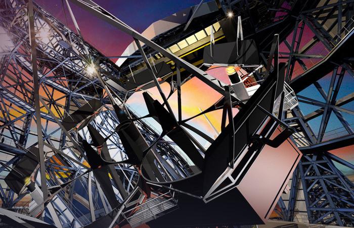 Giant Magellan Telescope (artist rendering)