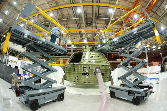 Orion capsule under construction