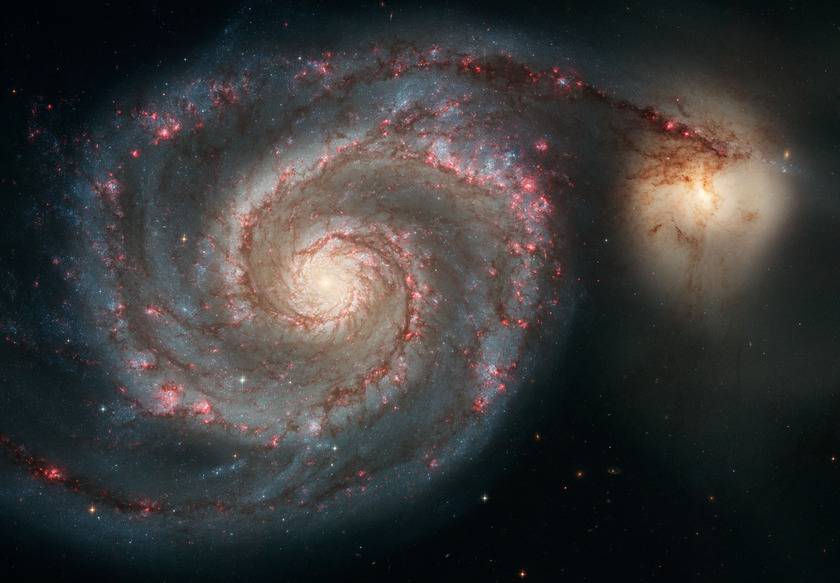 M51, the Whirlpool Galaxy, from Hubble