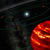 Three planets around HR 8799