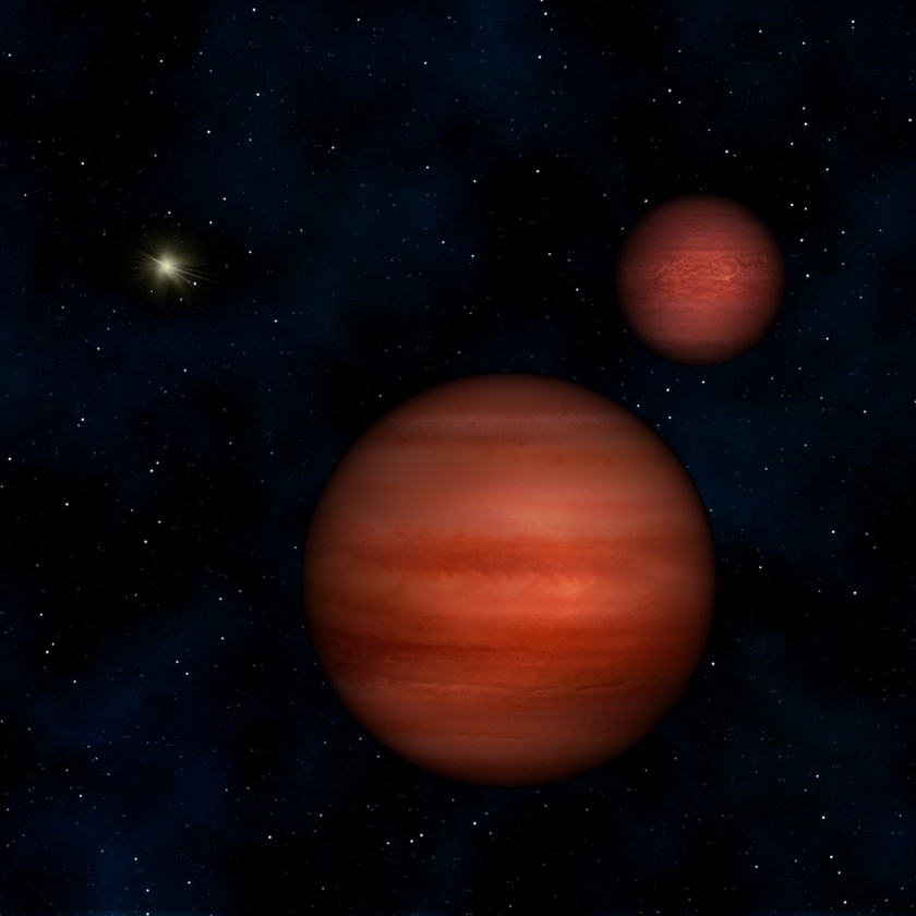 Artist's concept of nearby binary brown dwarfs WISE J104915.57-531906