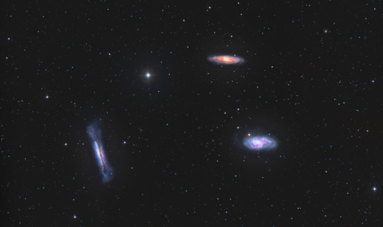 The Leo Triplet - M65, M66 & NGC3628