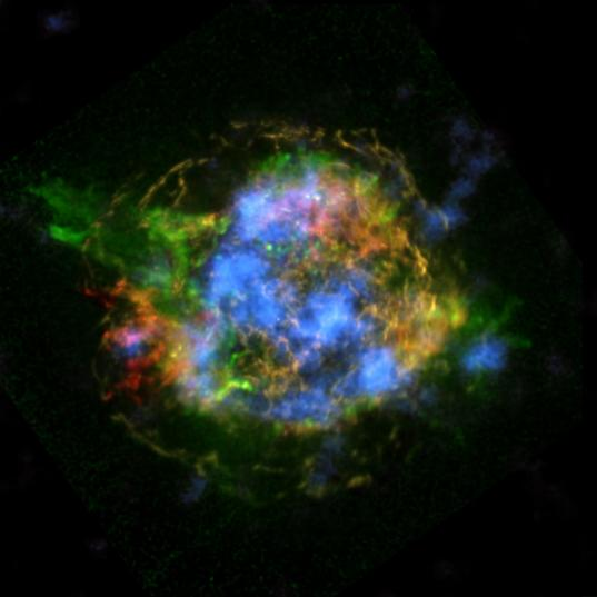 Supernova remnant Cassiopeia A as viewed by NuSTAR