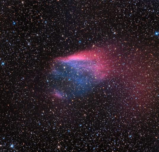 Sh2-68: The Flaming Skull Nebula