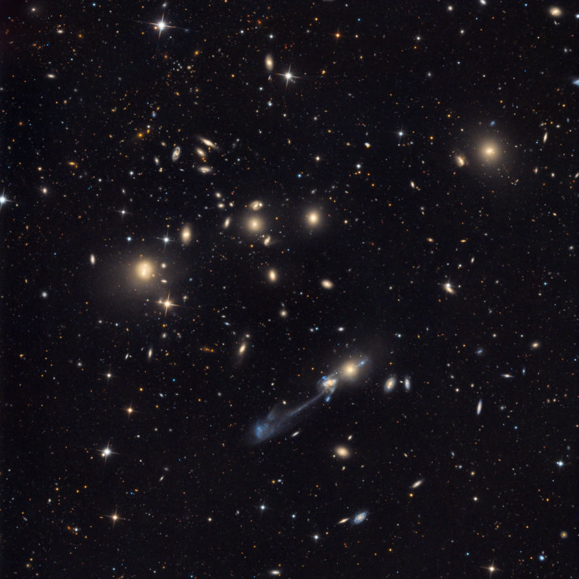 NGC 3561 (Arp 105) in Abell 1185 (context view)