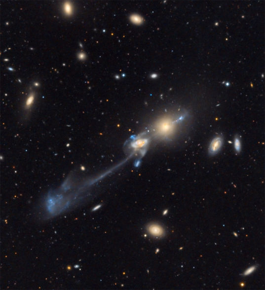 NGC 3561 (Arp 105) in Abell 1185