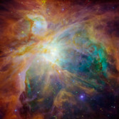The Orion Nebula by Hubble and Spitzer