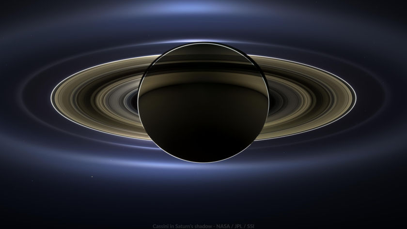 Wallpaper: In Saturn's Shadow (The Day the Earth Smiled)