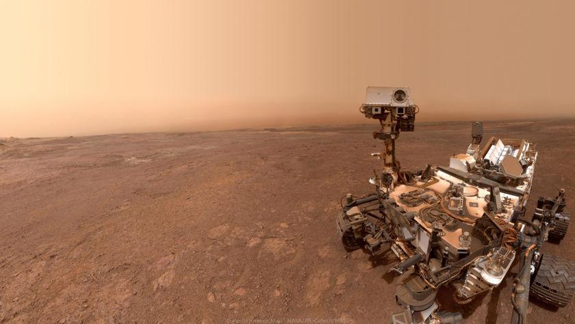 Wallpaper: Curiosity self-portrait at Vera Rubin Ridge, sol 2291