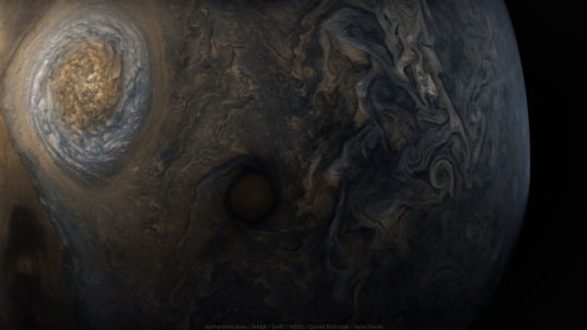 Wallpaper: Jupiter from Juno's seventh perijove