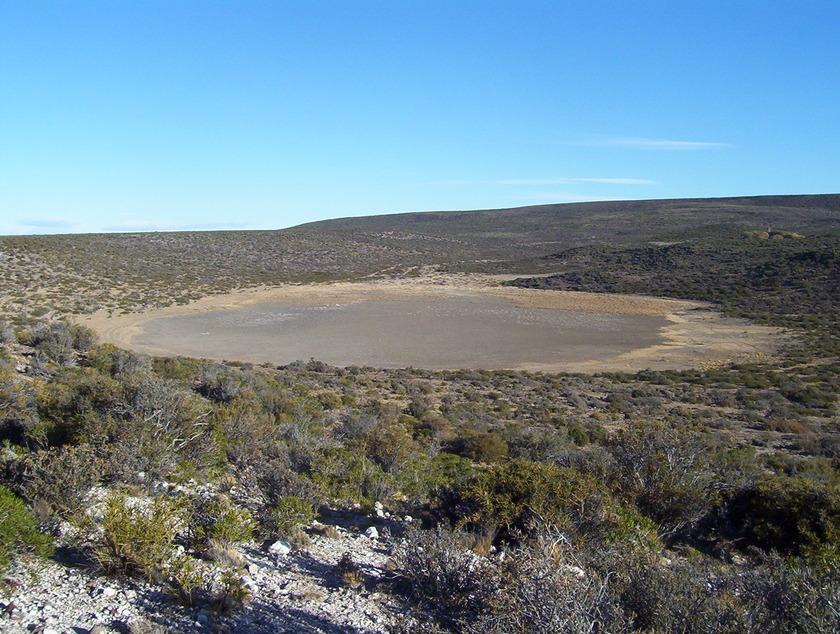 Impact crater in Bajada del Diablo