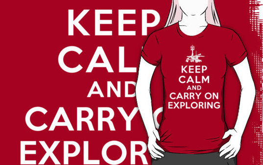Keep Calm and Carry on Exploring T-shirt