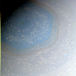 Saturn hexagon processing step: RGB combination of initial images