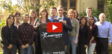 Video still of Planetary Society Saying Thanks