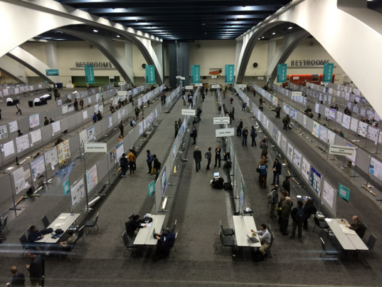 Poster session at 2013 American Geophysical Union meeting