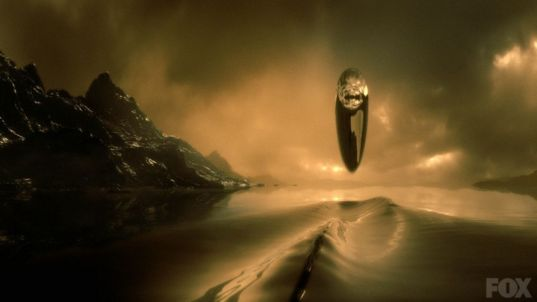Cosmos: The Ship of the Imagination disturbs a Titan lake