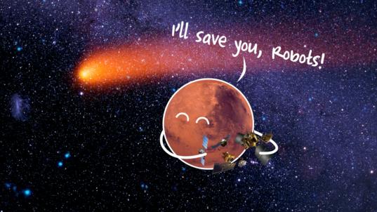 I'll save you, robots!
