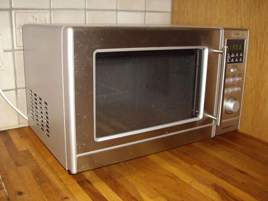 A suspicious-looking microwave