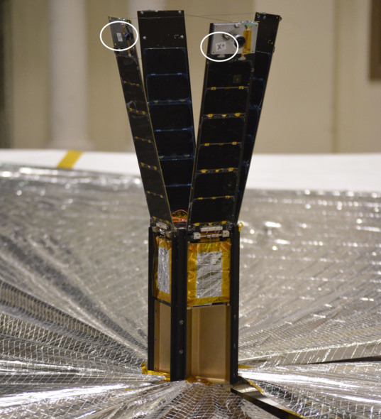 LightSail flight unit with labeled axes