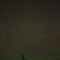 LightSail 1 from Tahoe National Forest, California