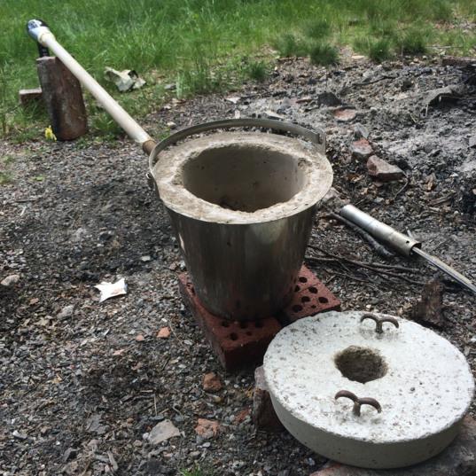 Makeshift furnace