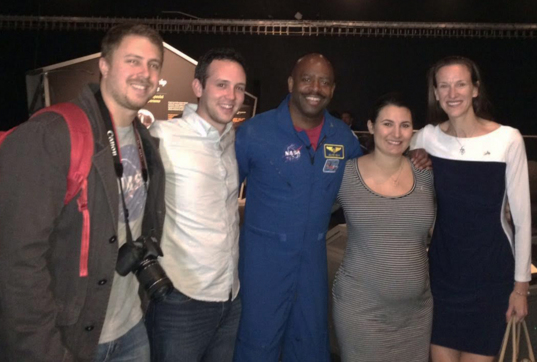 The Planetary Society staff meets astronaut Leland D. Melvin