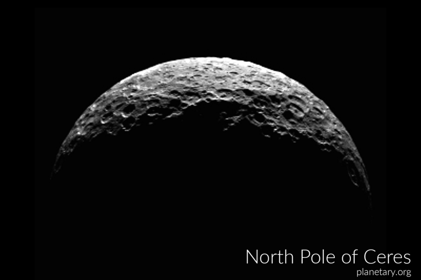 North pole postcard: Ceres