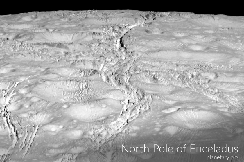 North pole postcard: Enceladus