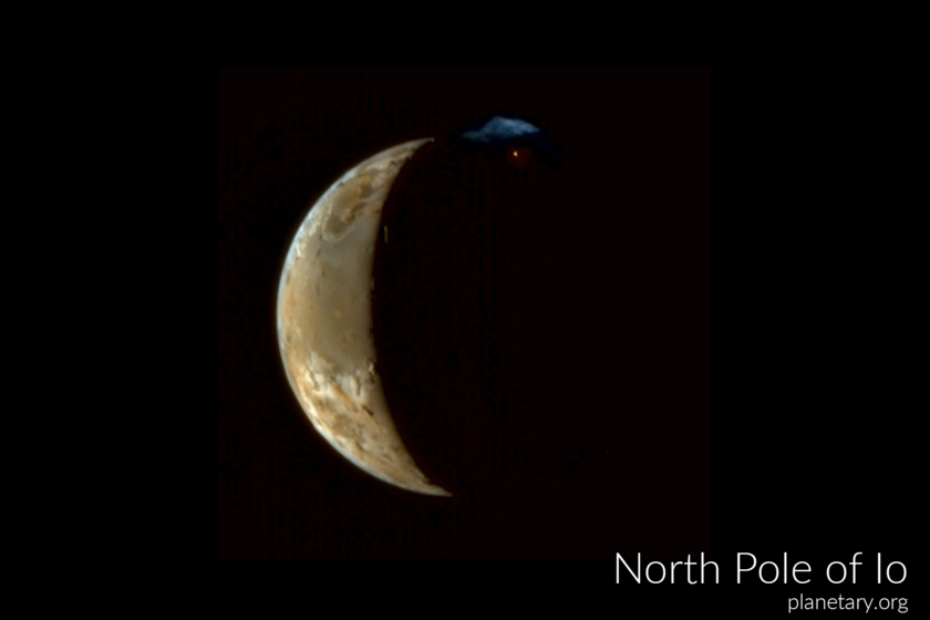 North pole postcard: Io
