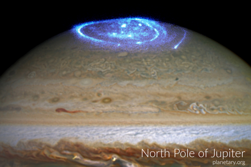 North pole postcard: Jupiter