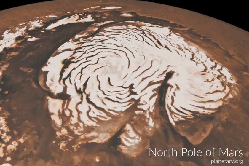 North pole postcard: Mars