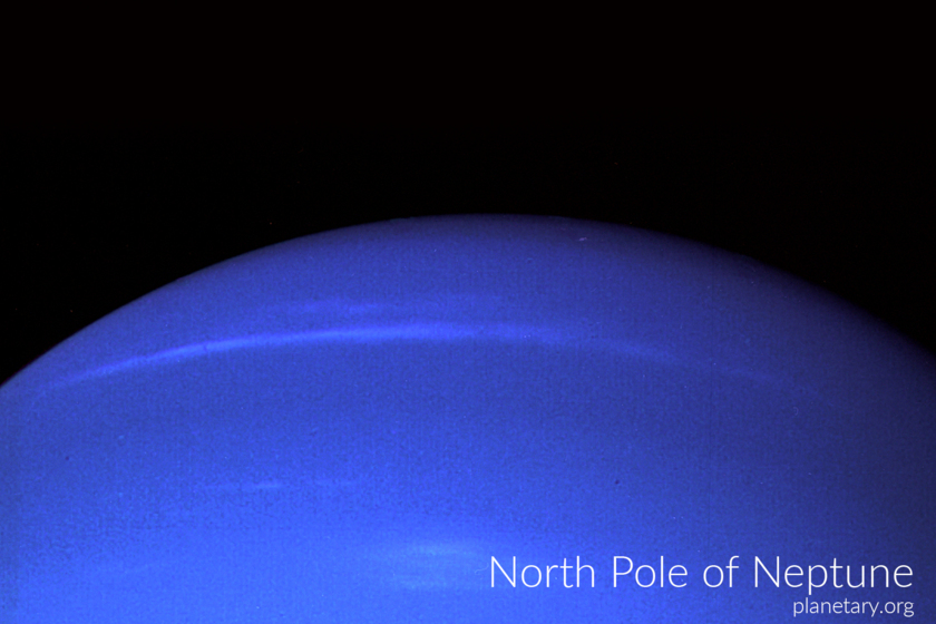 North pole postcard: Neptune