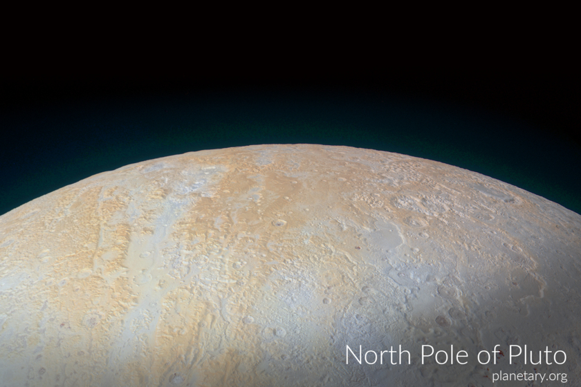 North pole postcard: Pluto