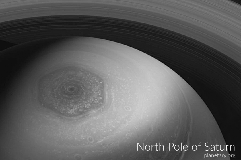 North pole postcard: Saturn